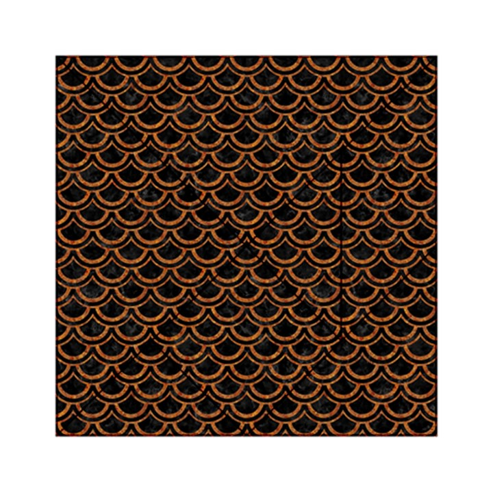 SCALES2 BLACK MARBLE & RUSTED METAL (R) Acrylic Tangram Puzzle (6  x 6 )