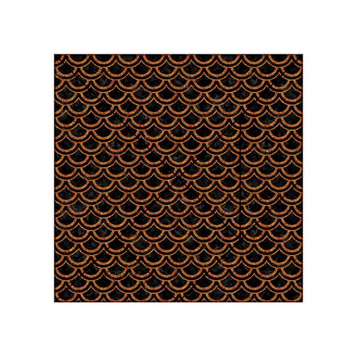 SCALES2 BLACK MARBLE & RUSTED METAL (R) Acrylic Tangram Puzzle (4  x 4 )