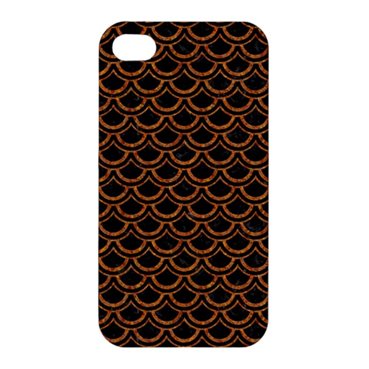 SCALES2 BLACK MARBLE & RUSTED METAL (R) Apple iPhone 4/4S Premium Hardshell Case