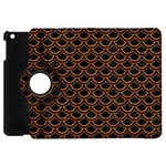 SCALES2 BLACK MARBLE & RUSTED METAL (R) Apple iPad Mini Flip 360 Case Front