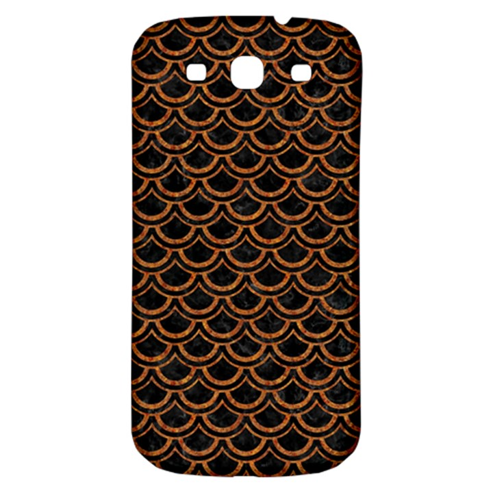 SCALES2 BLACK MARBLE & RUSTED METAL (R) Samsung Galaxy S3 S III Classic Hardshell Back Case
