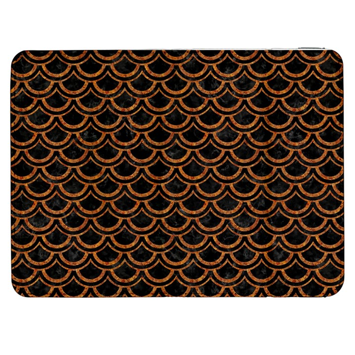 SCALES2 BLACK MARBLE & RUSTED METAL (R) Samsung Galaxy Tab 7  P1000 Flip Case
