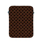 SCALES2 BLACK MARBLE & RUSTED METAL (R) Apple iPad 2/3/4 Protective Soft Cases Front