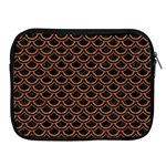 SCALES2 BLACK MARBLE & RUSTED METAL (R) Apple iPad 2/3/4 Zipper Cases Front