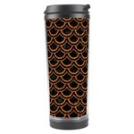 SCALES2 BLACK MARBLE & RUSTED METAL (R) Travel Tumbler Left