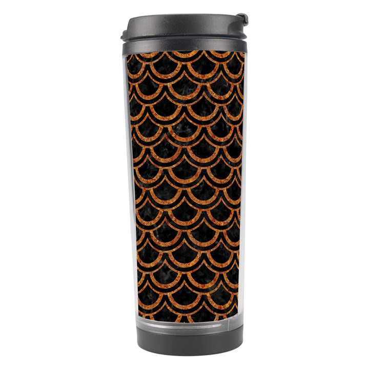 SCALES2 BLACK MARBLE & RUSTED METAL (R) Travel Tumbler