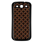 SCALES2 BLACK MARBLE & RUSTED METAL (R) Samsung Galaxy S3 Back Case (Black) Front