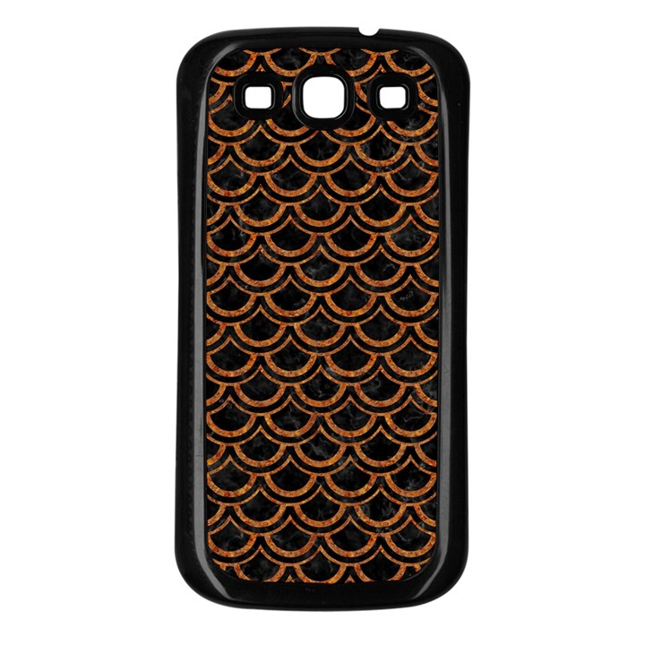 SCALES2 BLACK MARBLE & RUSTED METAL (R) Samsung Galaxy S3 Back Case (Black)