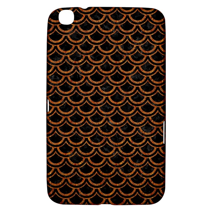 SCALES2 BLACK MARBLE & RUSTED METAL (R) Samsung Galaxy Tab 3 (8 ) T3100 Hardshell Case