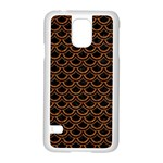 SCALES2 BLACK MARBLE & RUSTED METAL (R) Samsung Galaxy S5 Case (White) Front
