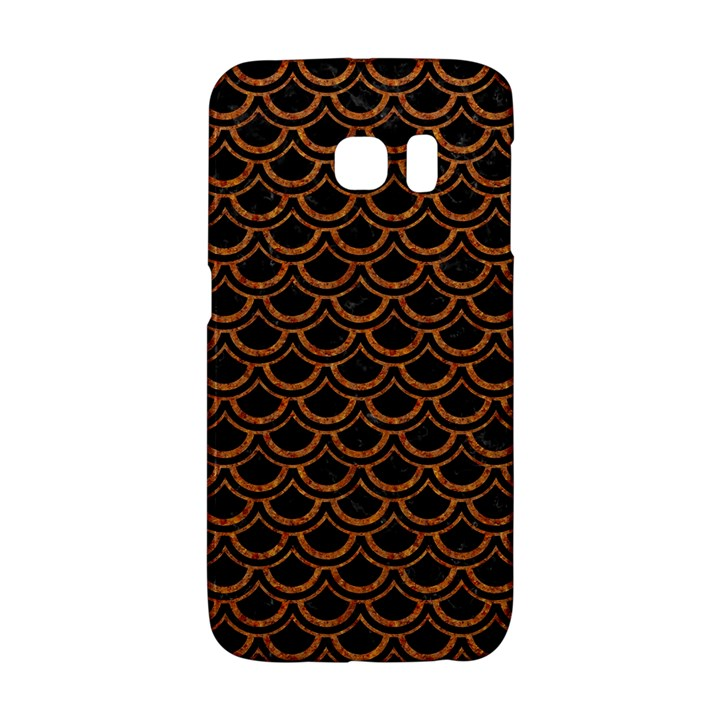 SCALES2 BLACK MARBLE & RUSTED METAL (R) Galaxy S6 Edge