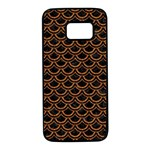 SCALES2 BLACK MARBLE & RUSTED METAL (R) Samsung Galaxy S7 Black Seamless Case Front