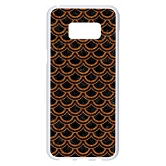 Scales2 Black Marble & Rusted Metal (r) Samsung Galaxy S8 Plus White Seamless Case