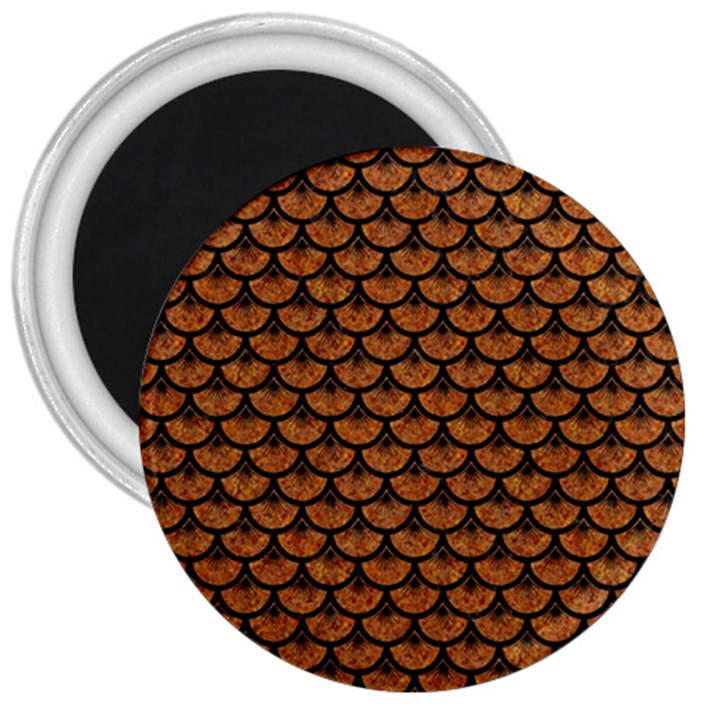 SCALES3 BLACK MARBLE & RUSTED METAL 3  Magnets