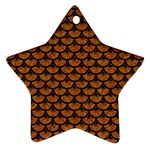 SCALES3 BLACK MARBLE & RUSTED METAL Ornament (Star) Front