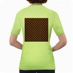 SCALES3 BLACK MARBLE & RUSTED METAL Women s Green T-Shirt Back