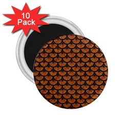 Scales3 Black Marble & Rusted Metal 2 25  Magnets (10 Pack)