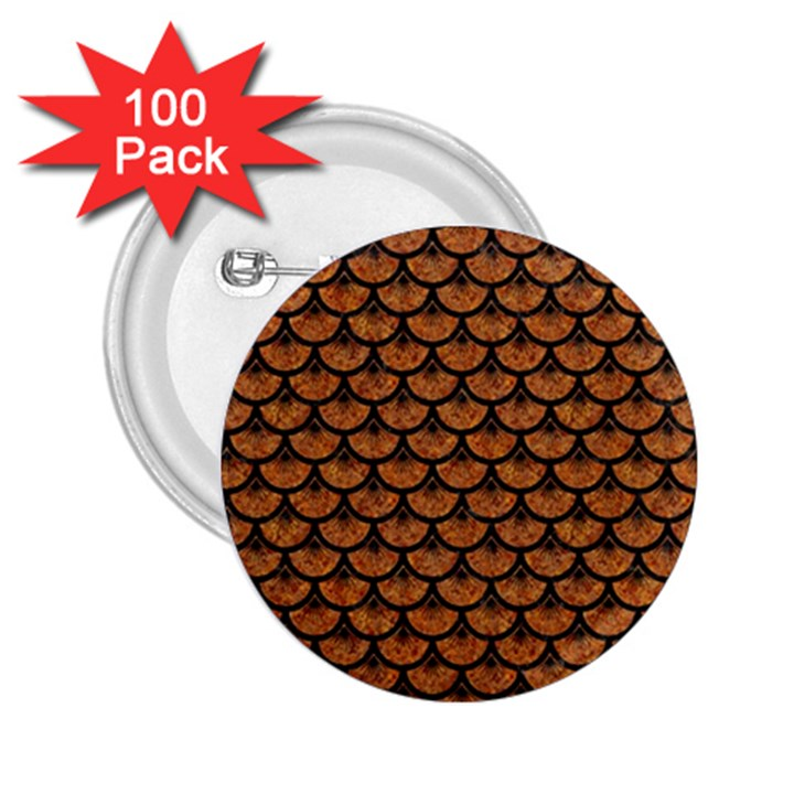 SCALES3 BLACK MARBLE & RUSTED METAL 2.25  Buttons (100 pack)