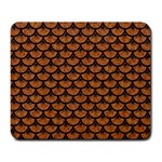 SCALES3 BLACK MARBLE & RUSTED METAL Large Mousepads Front