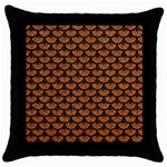 SCALES3 BLACK MARBLE & RUSTED METAL Throw Pillow Case (Black) Front