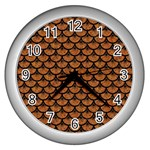 SCALES3 BLACK MARBLE & RUSTED METAL Wall Clocks (Silver)  Front