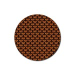 SCALES3 BLACK MARBLE & RUSTED METAL Rubber Round Coaster (4 pack)  Front