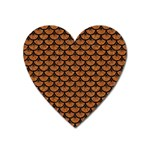 SCALES3 BLACK MARBLE & RUSTED METAL Heart Magnet Front