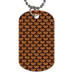 SCALES3 BLACK MARBLE & RUSTED METAL Dog Tag (Two Sides) Back