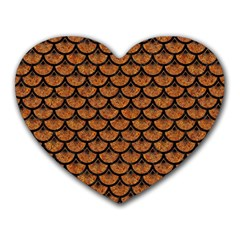 Scales3 Black Marble & Rusted Metal Heart Mousepads