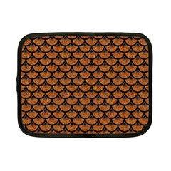 Scales3 Black Marble & Rusted Metal Netbook Case (small)
