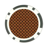 SCALES3 BLACK MARBLE & RUSTED METAL Poker Chip Card Guard (10 pack) Front