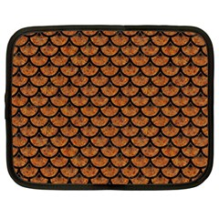 Scales3 Black Marble & Rusted Metal Netbook Case (xl)