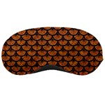 SCALES3 BLACK MARBLE & RUSTED METAL Sleeping Masks Front