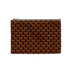 Scales3 Black Marble & Rusted Metal Cosmetic Bag (medium)