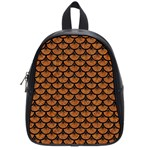 SCALES3 BLACK MARBLE & RUSTED METAL School Bag (Small) Front