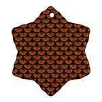SCALES3 BLACK MARBLE & RUSTED METAL Ornament (Snowflake) Front