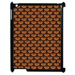 SCALES3 BLACK MARBLE & RUSTED METAL Apple iPad 2 Case (Black) Front