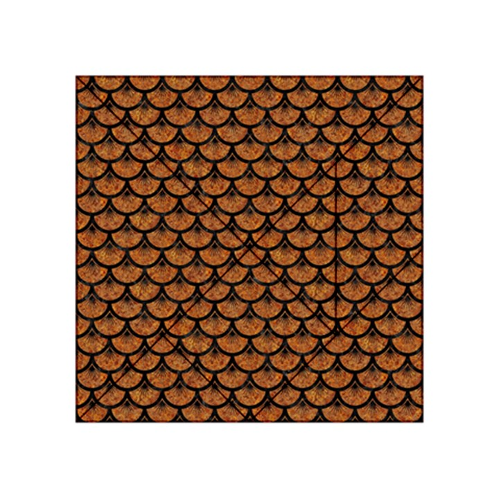 SCALES3 BLACK MARBLE & RUSTED METAL Acrylic Tangram Puzzle (4  x 4 )