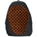 SCALES3 BLACK MARBLE & RUSTED METAL Backpack Bag Front