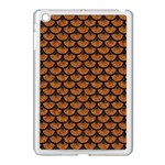 SCALES3 BLACK MARBLE & RUSTED METAL Apple iPad Mini Case (White) Front