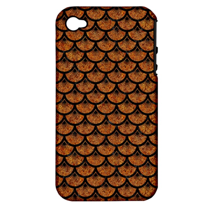 SCALES3 BLACK MARBLE & RUSTED METAL Apple iPhone 4/4S Hardshell Case (PC+Silicone)