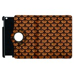 SCALES3 BLACK MARBLE & RUSTED METAL Apple iPad 2 Flip 360 Case Front