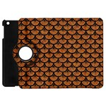 SCALES3 BLACK MARBLE & RUSTED METAL Apple iPad Mini Flip 360 Case Front
