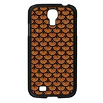 SCALES3 BLACK MARBLE & RUSTED METAL Samsung Galaxy S4 I9500/ I9505 Case (Black) Front