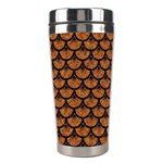 SCALES3 BLACK MARBLE & RUSTED METAL Stainless Steel Travel Tumblers Left