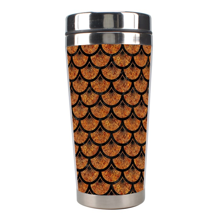 SCALES3 BLACK MARBLE & RUSTED METAL Stainless Steel Travel Tumblers