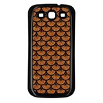 SCALES3 BLACK MARBLE & RUSTED METAL Samsung Galaxy S3 Back Case (Black) Front