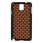 SCALES3 BLACK MARBLE & RUSTED METAL Samsung Galaxy Note 3 N9005 Case (Black) Front