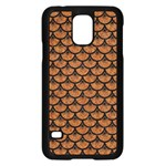 SCALES3 BLACK MARBLE & RUSTED METAL Samsung Galaxy S5 Case (Black) Front