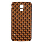 SCALES3 BLACK MARBLE & RUSTED METAL Samsung Galaxy S5 Back Case (White) Front